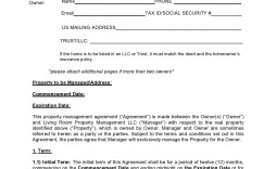005 Simple Property Management Agreement Template Sample  Templates Termination Of Commercial Form