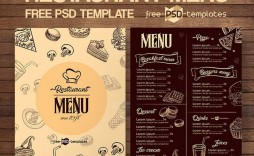 005 Simple Restaurant Menu Template Free Picture  Card Download Indesign Word