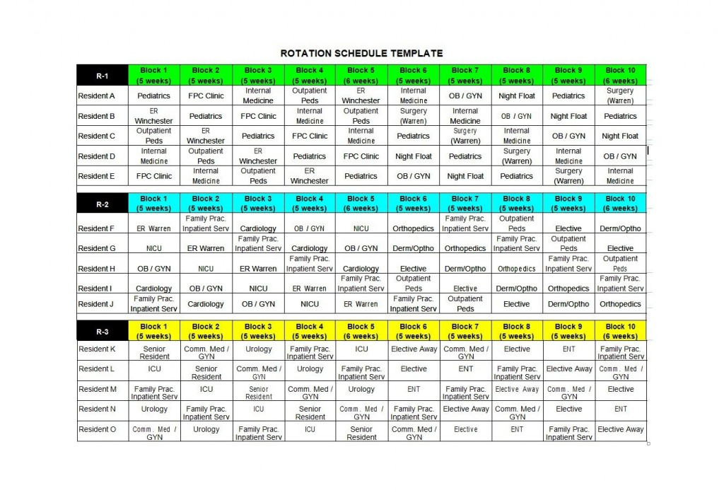 005 Simple Rotating Work Schedule Example Sample  Examples ShiftLarge