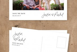 005 Simple Save The Date Postcard Template Highest Quality  Diy Free Birthday