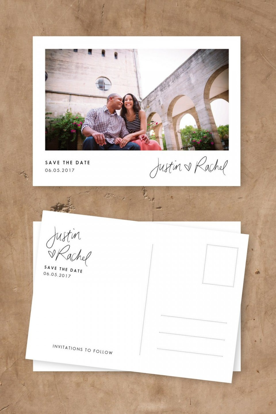 005 Simple Save The Date Postcard Template Highest Quality  Diy Free Birthday960