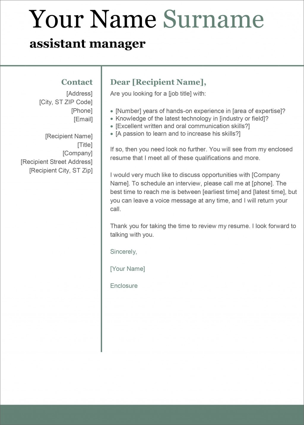 005 Simple Cover Letter Template Word Image Large