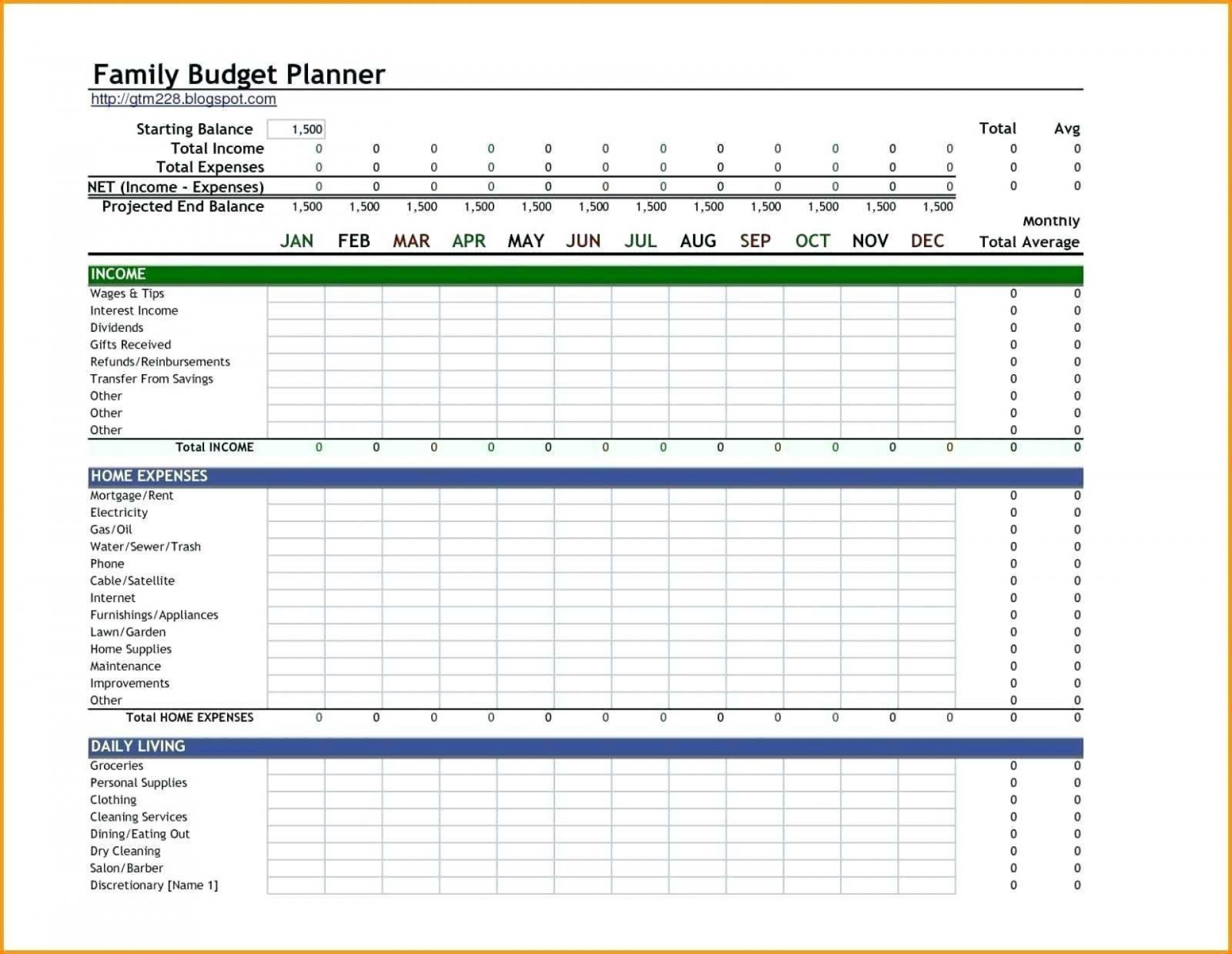 005 Simple Excel Monthly Budget Template Image  Household Microsoft Office Free1920