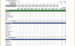 005 Simple Excel Monthly Budget Template Image  Household Microsoft Office Free