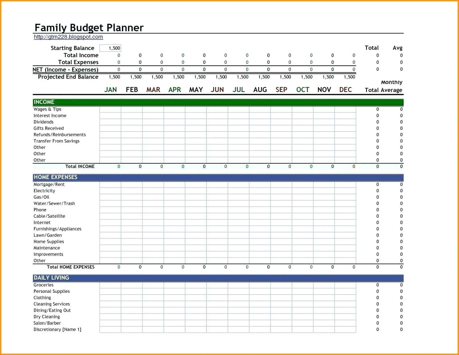 005 Simple Excel Monthly Budget Template Image  Household Microsoft Office FreeFull
