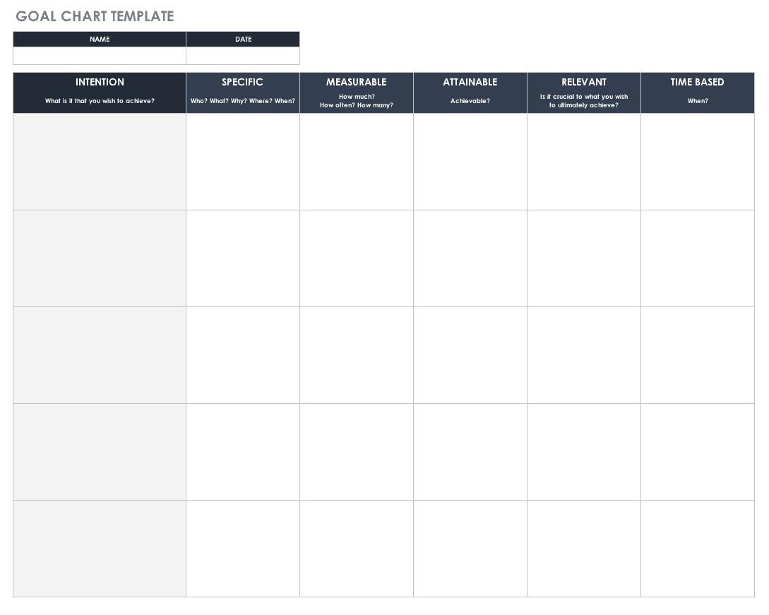 005 Simple Smart Goal Template Excel Inspiration  Free Setting WorksheetFull