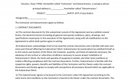 005 Simple Subcontractor Contract Template Free Example  Uk