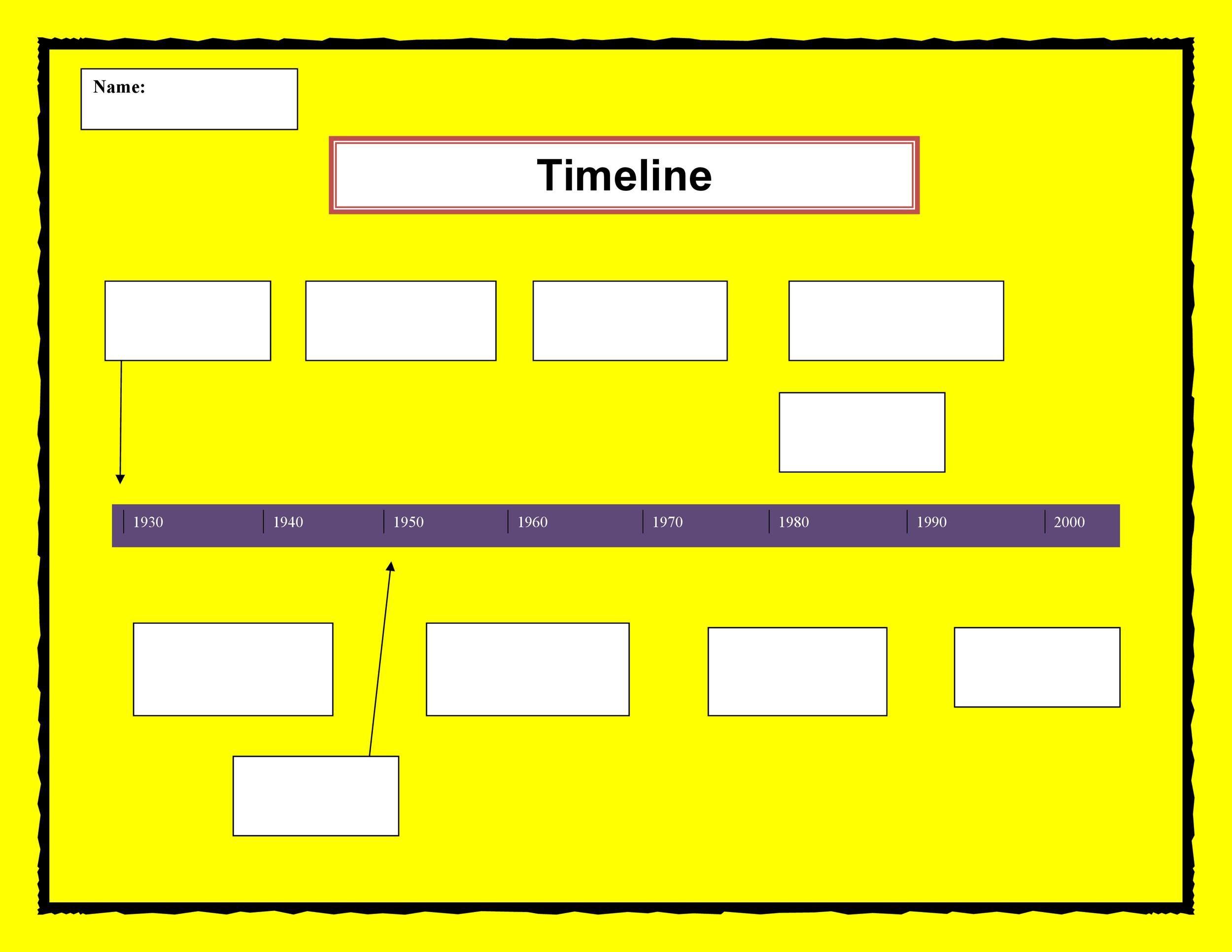 005 Simple Timeline Template For Word Sample  Wordpres FreeFull