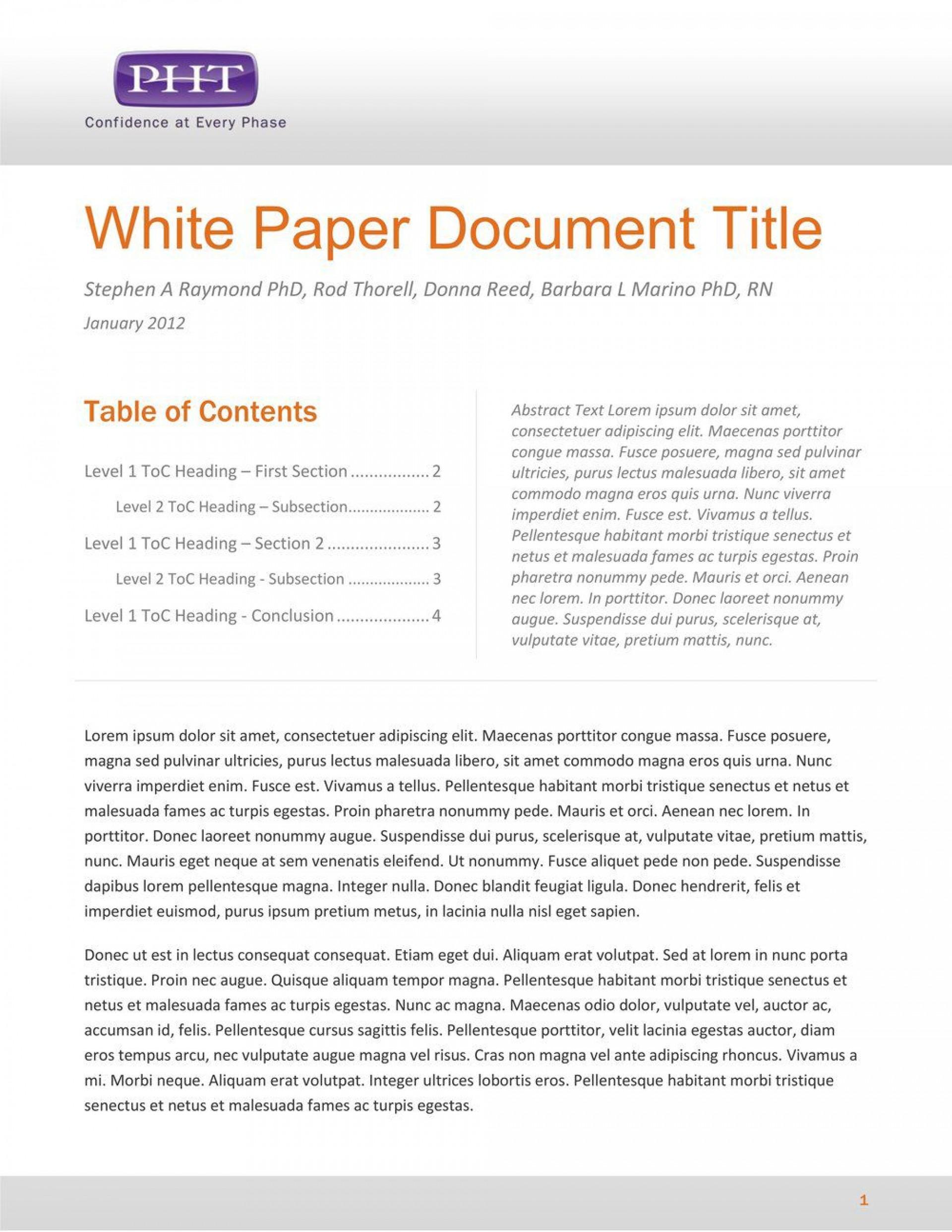 005 Simple White Paper Outline Sample Idea 1920
