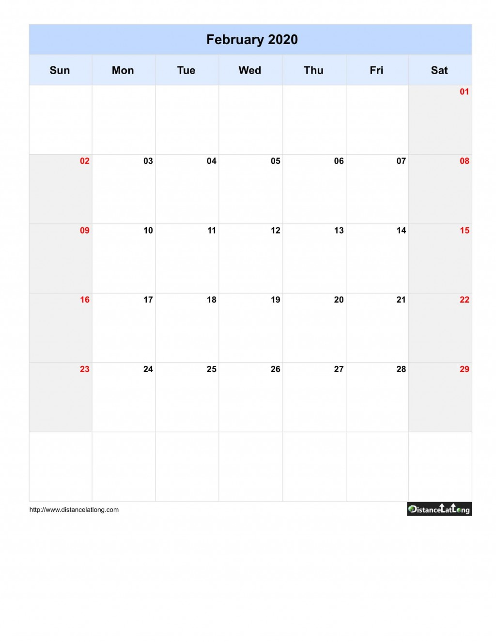 005 Singular 2020 Blank Calendar Template Concept  Printable Monthly Word Downloadable With HolidayLarge