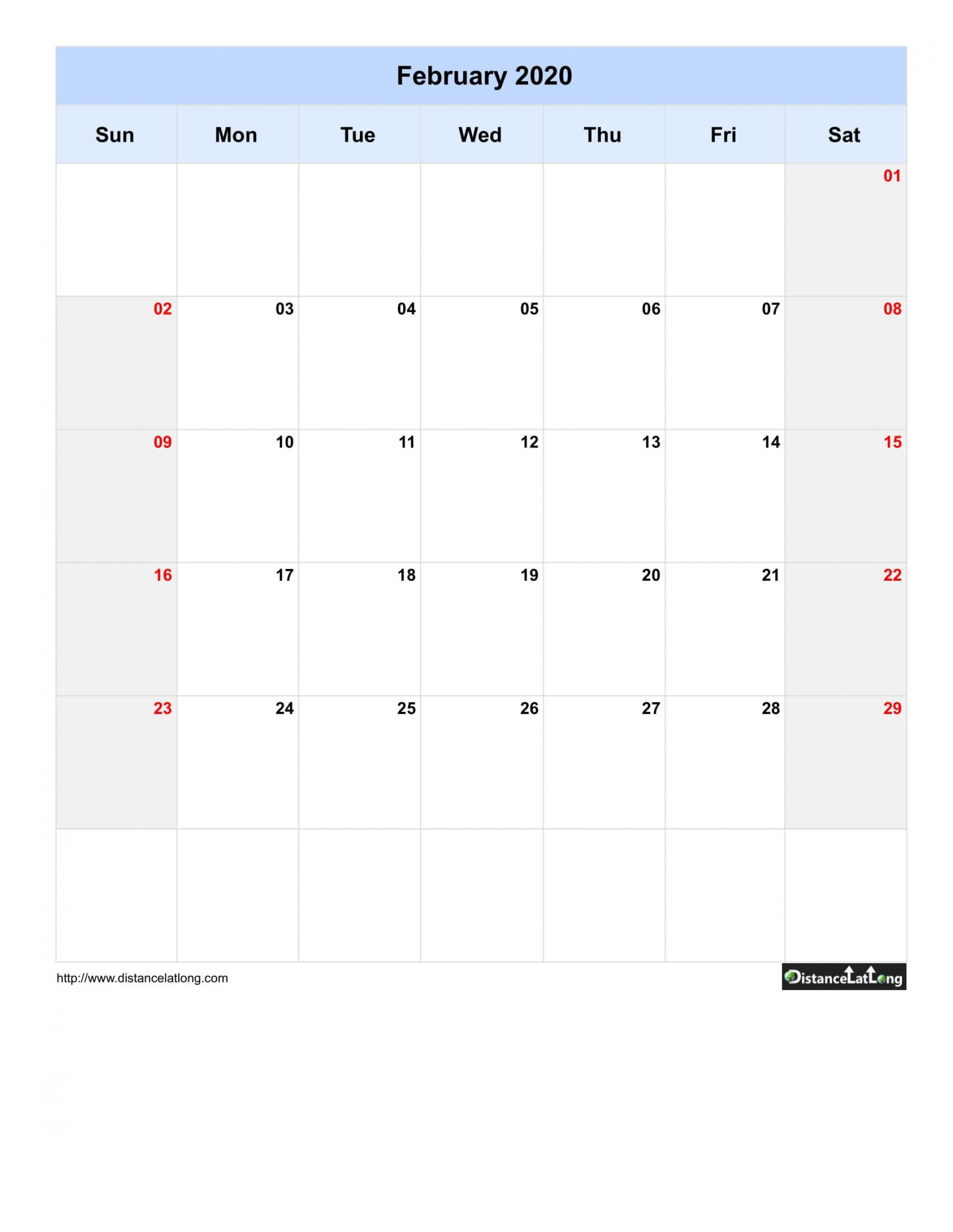 005 Singular 2020 Blank Calendar Template Concept  Printable Monthly Word Downloadable With Holiday1920