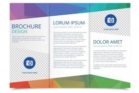 005 Singular 3 Fold Brochure Template Design  For Free