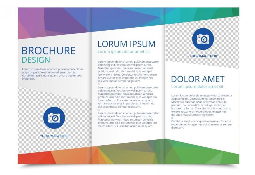 005 Singular 3 Fold Brochure Template Design  For Free868