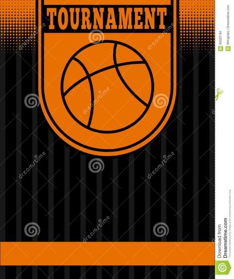 005 Singular Basketball Tournament Flyer Template Idea  3 On Free480