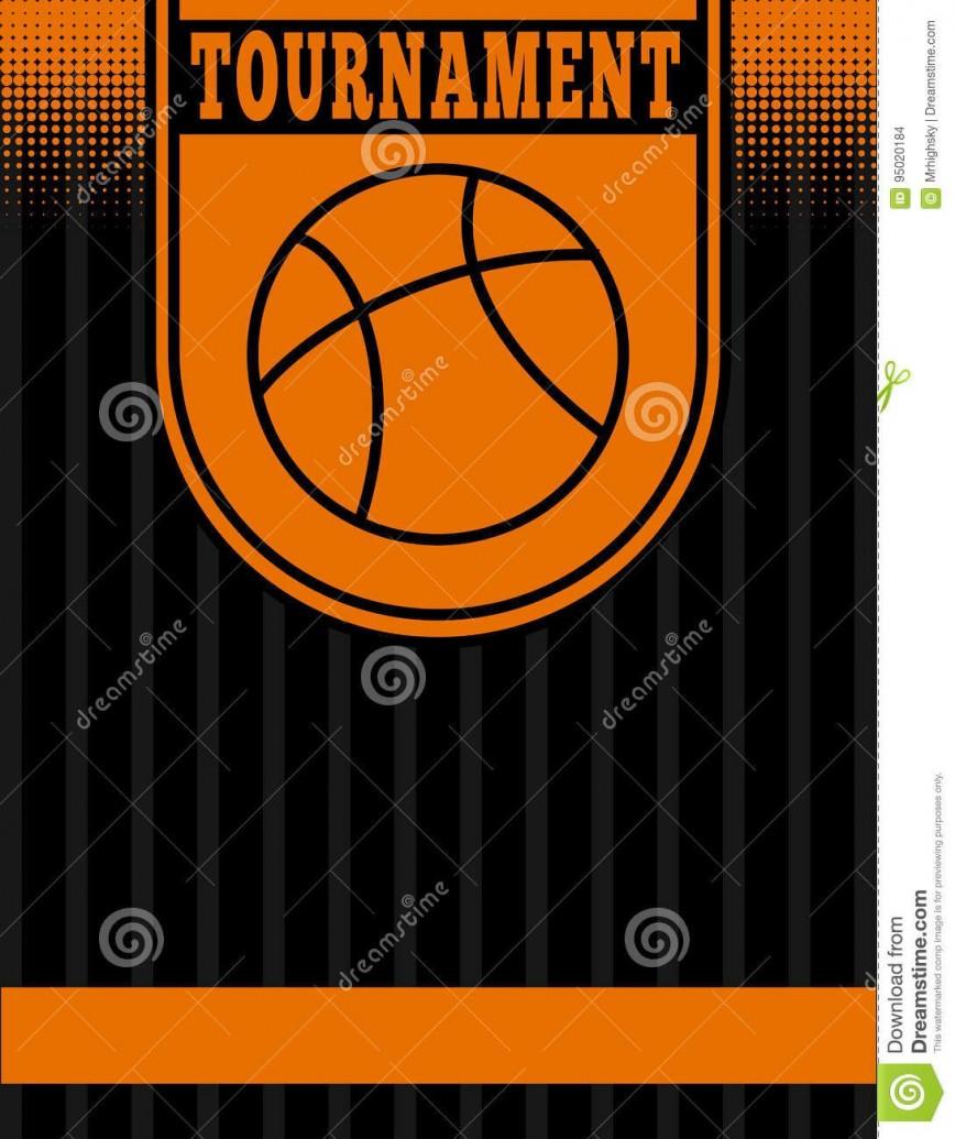 005 Singular Basketball Tournament Flyer Template Idea  3 On Free868