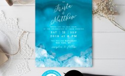 005 Singular Beach Wedding Invitation Template Photo  Templates Free Download For Word