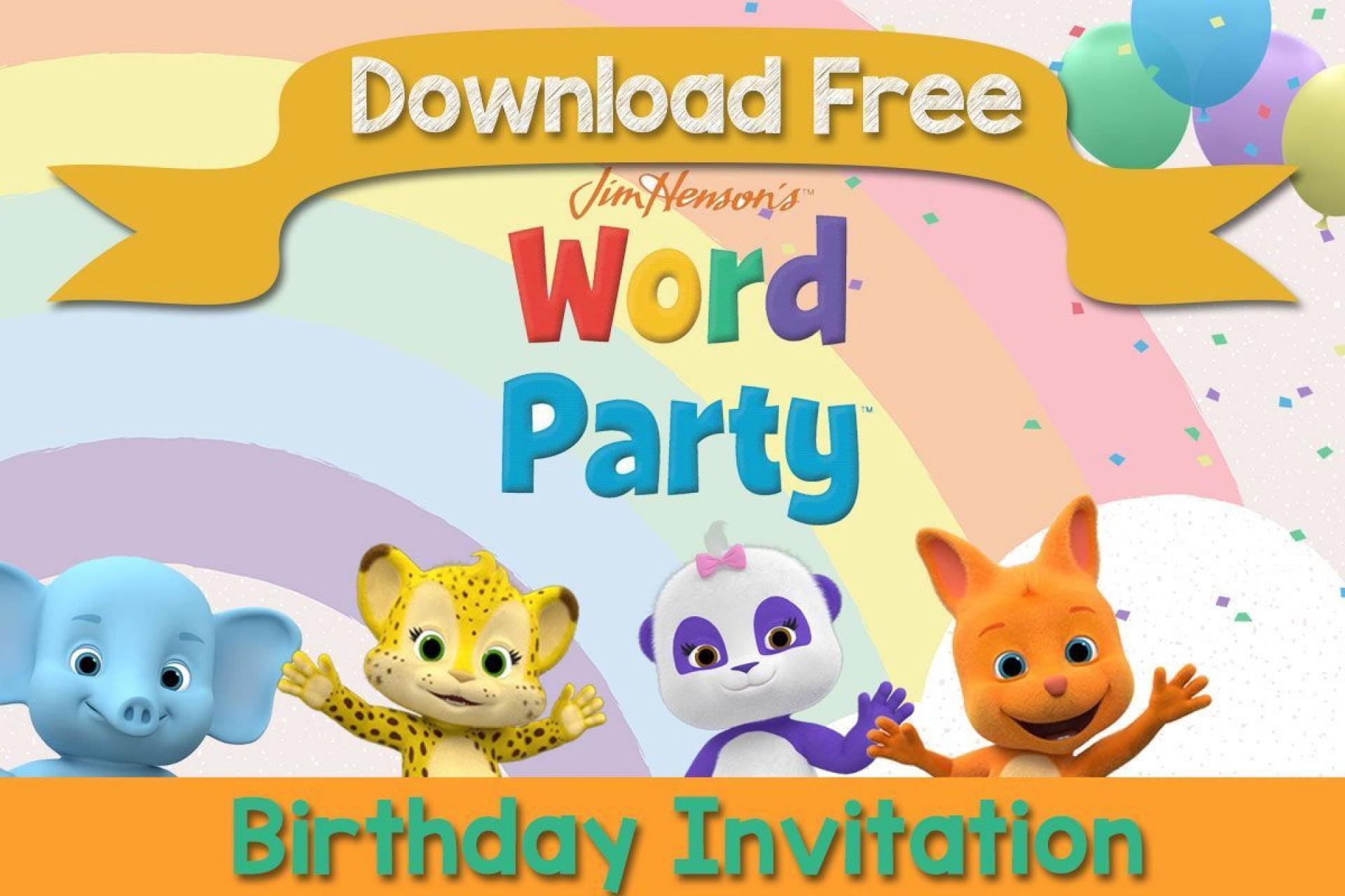005 Singular Birthday Invite Template Word Free Photo  Party Invitation1920