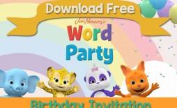 005 Singular Birthday Invite Template Word Free Photo  Party Invitation