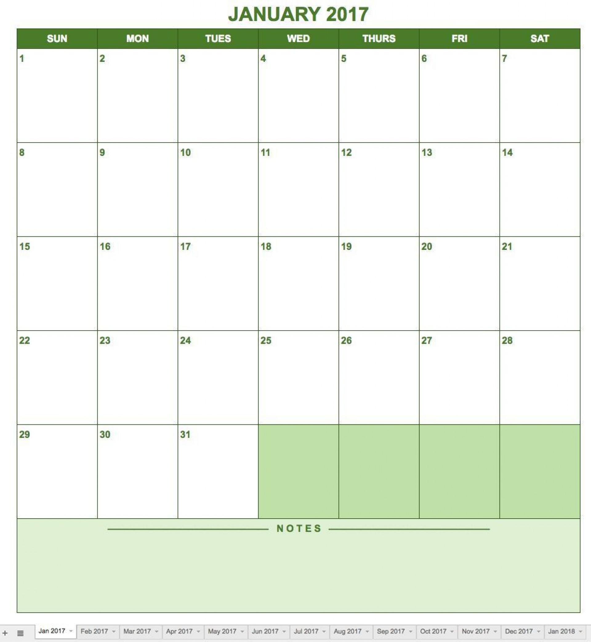 005 Singular Blank Monthly Calendar Template Google Doc Example  Docs1920