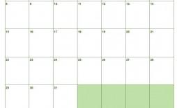005 Singular Blank Monthly Calendar Template Google Doc Example  Docs