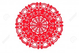 005 Singular Chinese Paper Cut Template Idea