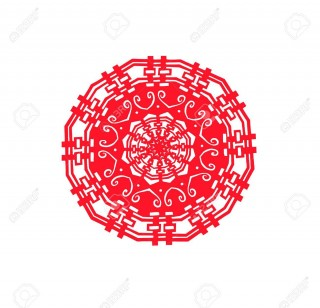 005 Singular Chinese Paper Cut Template Idea 320