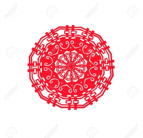 005 Singular Chinese Paper Cut Template Idea 480