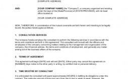 005 Singular Consulting Agreement Template Word Picture  Sample Free