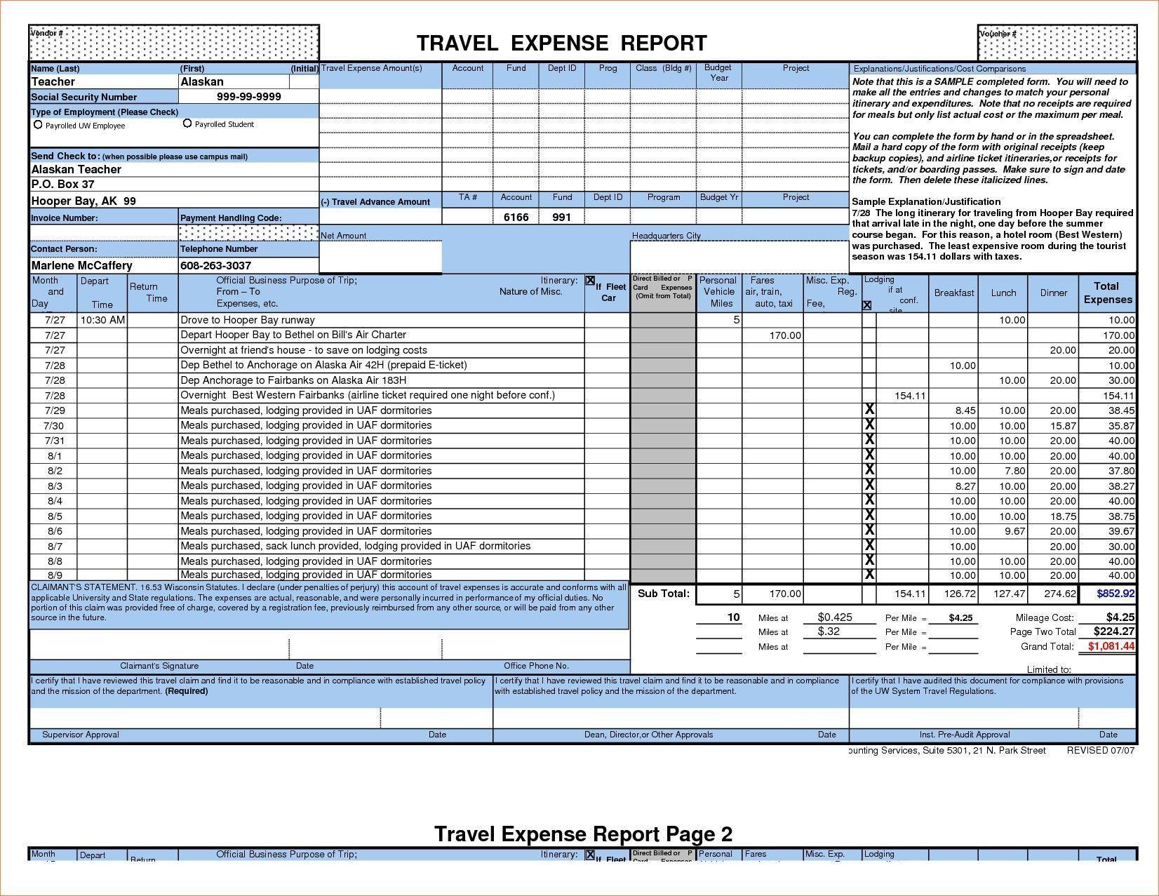 005 Singular Excel Busines Travel Expense Template Concept Full