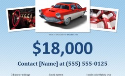 005 Singular For Sale Flyer Template Highest Quality  Car Ad Microsoft Word House