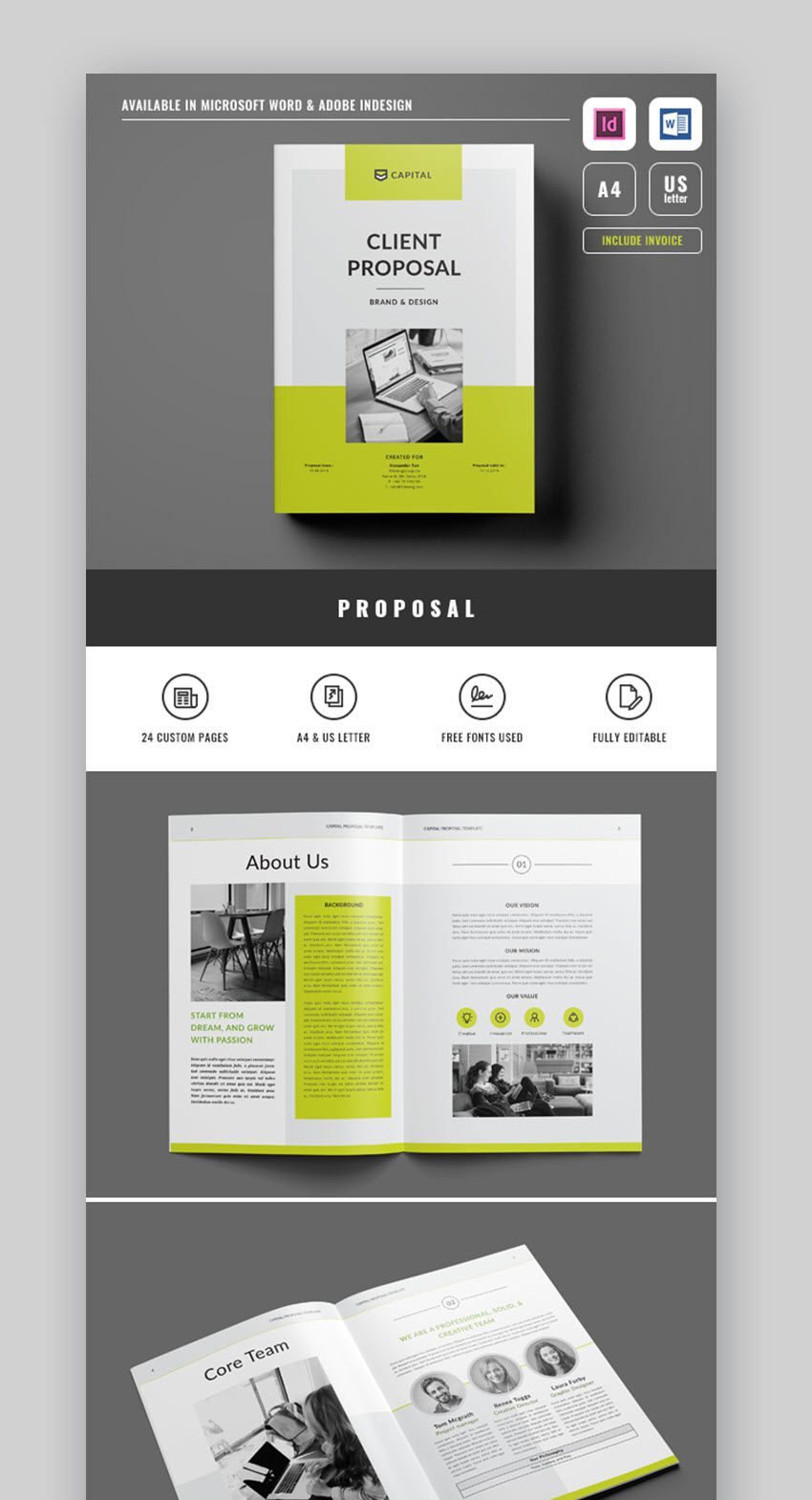 005 Singular Free Project Proposal Template High Resolution  Document Ppt PdfFull