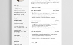 005 Singular Free Resume Template Download Inspiration  Google Doc Attractive Microsoft Word 2020