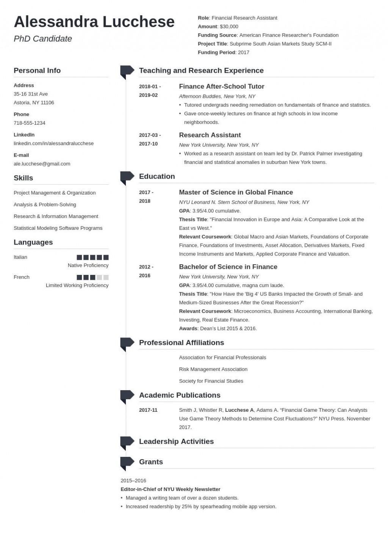 005 Singular Graduate School Resume Template Example  Word FreeLarge