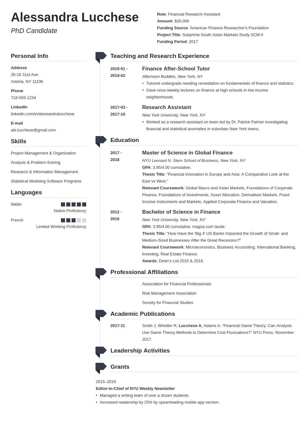 005 Singular Graduate School Resume Template Example  Word FreeFull