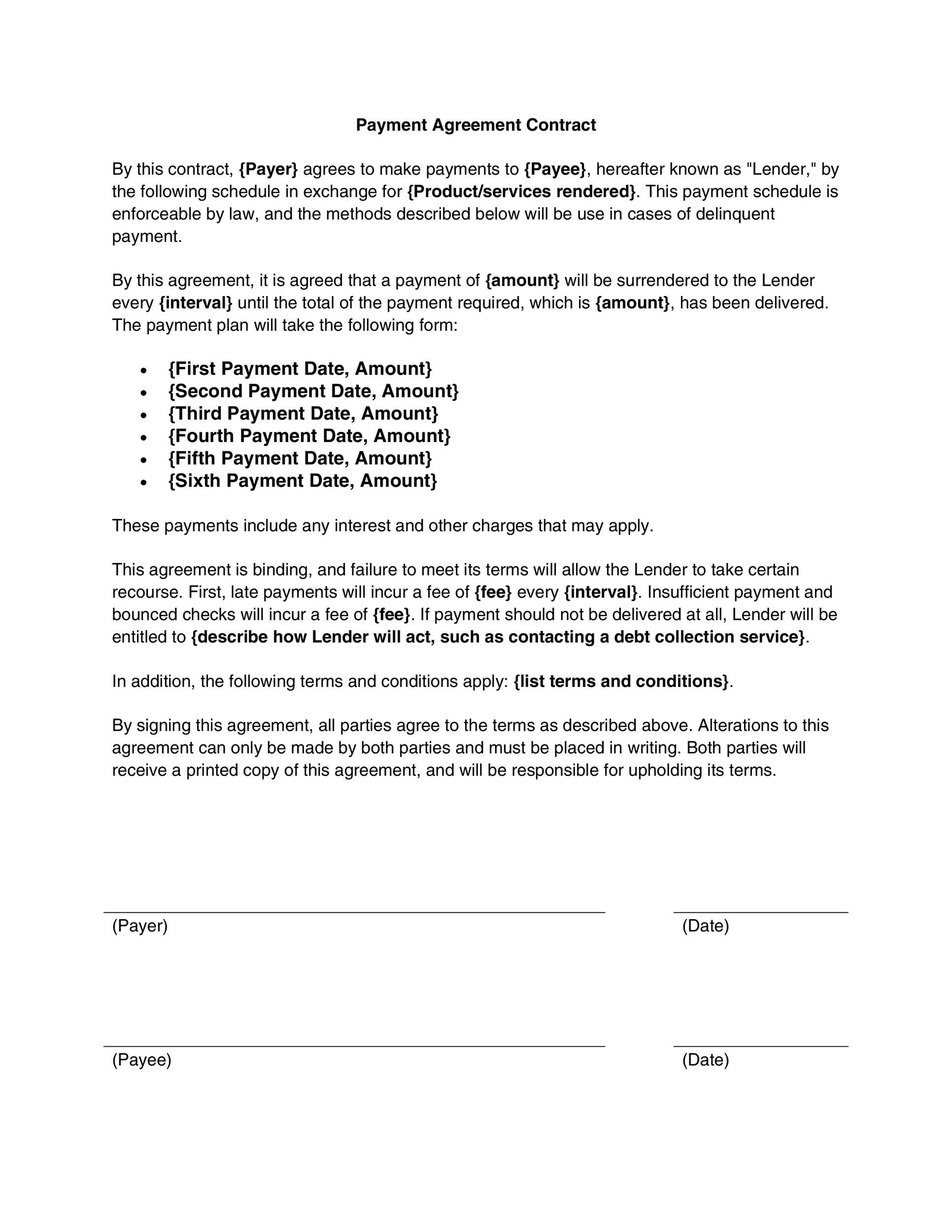 005 Singular Legal Binding Contract Template Picture  Legally Free AgreementFull