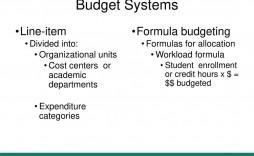 005 Singular Line Item Budget Formula Picture