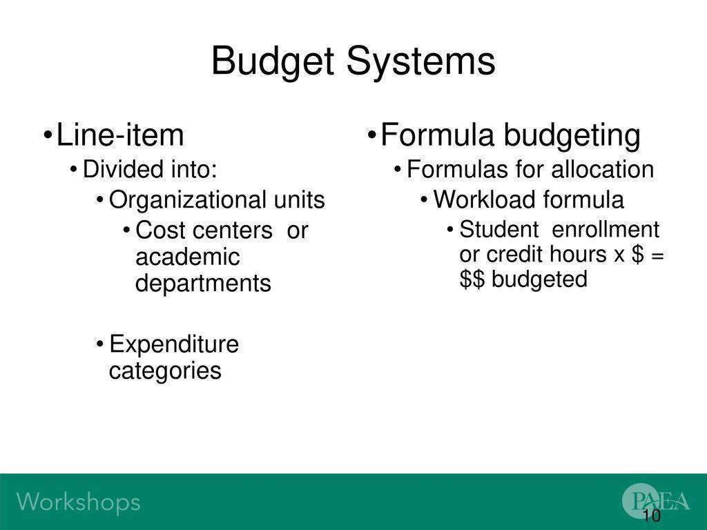 005 Singular Line Item Budget Formula Picture Full