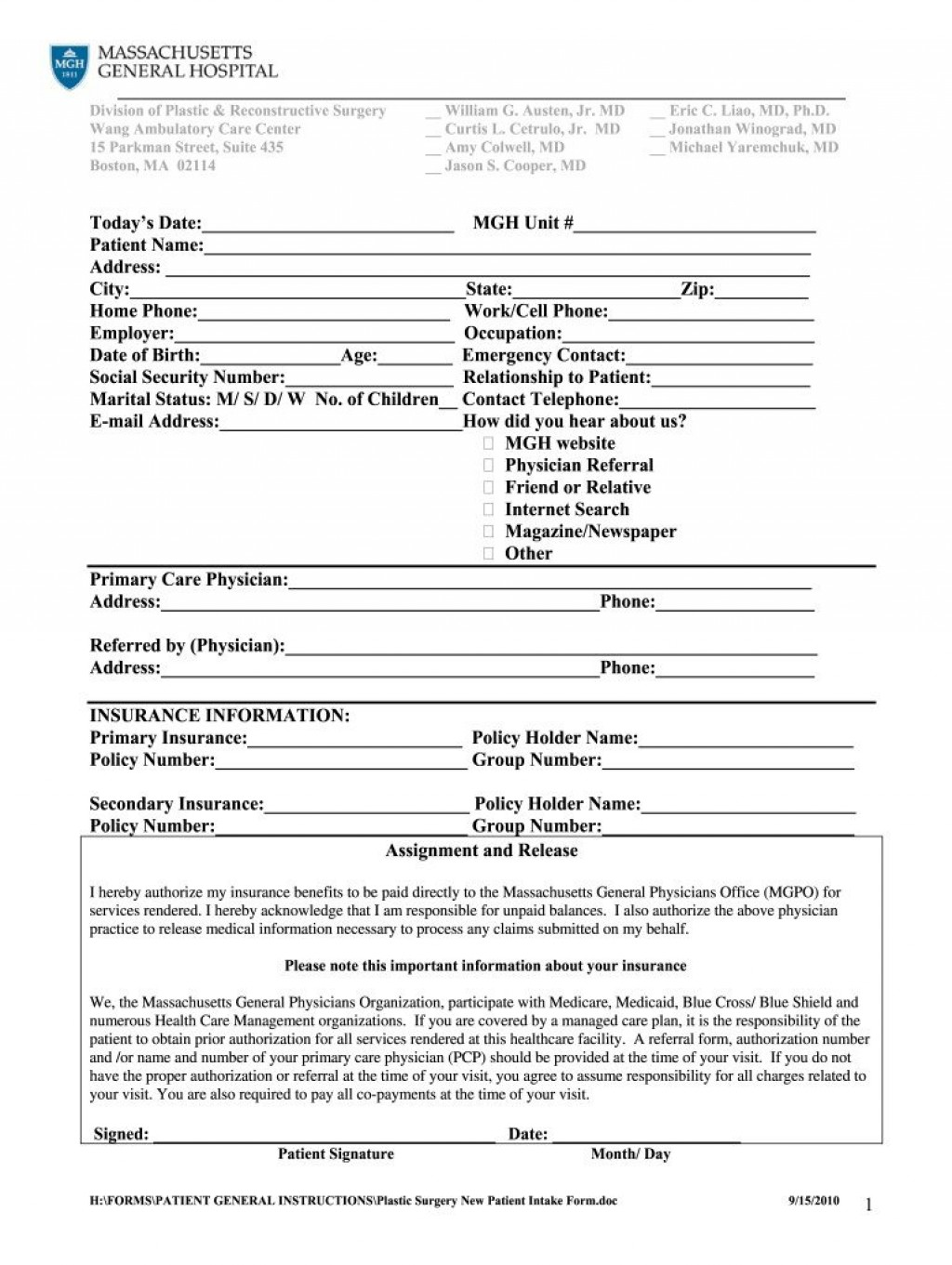 005 Singular Patient Intake Form Template Idea  Word Client Excel PdfLarge