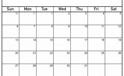 005 Singular Printable Blank Monthly Calendar Template Highest Clarity  Pdf
