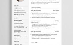 005 Singular Resume Template Free Word Sample  Download Cv 2020 Format
