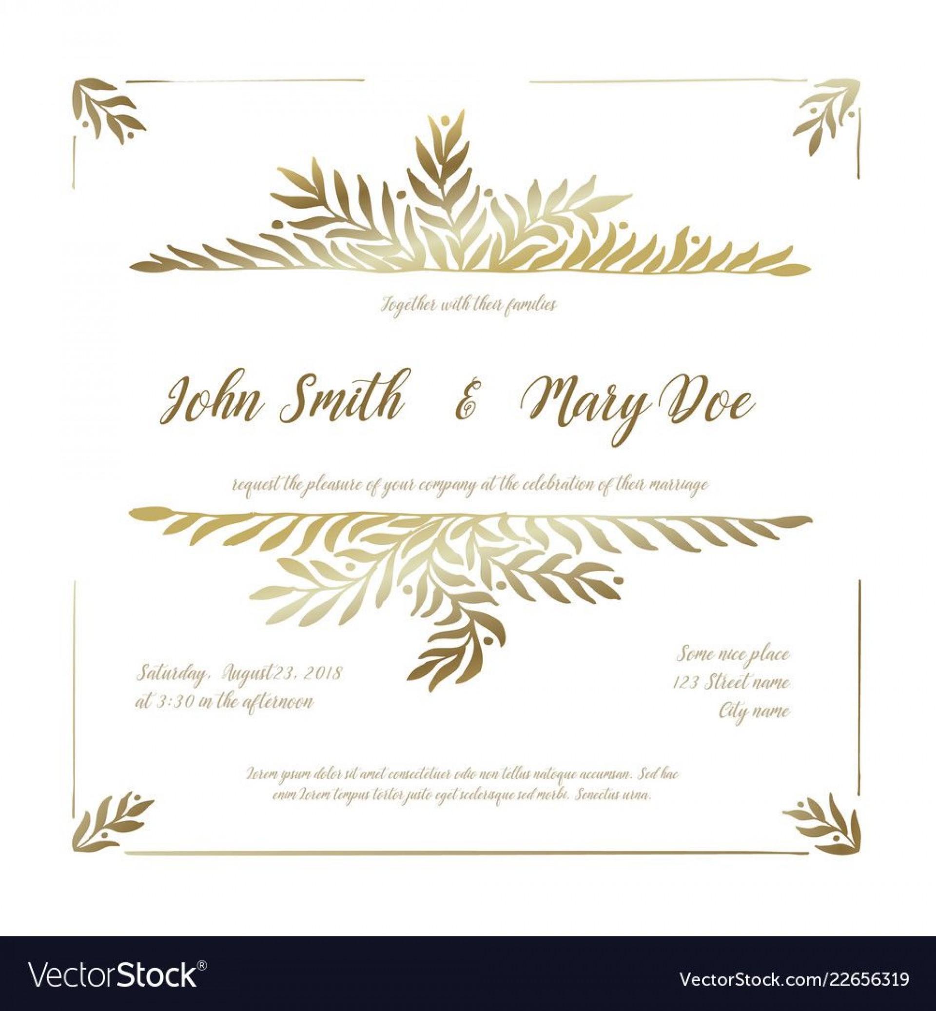 005 Singular Sample Wedding Invitation Card Template Idea  Templates Free Design Response Wording1920