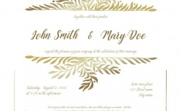 005 Singular Sample Wedding Invitation Card Template Idea  Templates Free Design Response Wording