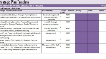 005 Singular Strategic Plan Template Free Example  Sale Account Excel360