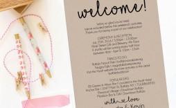 005 Singular Wedding Welcome Bag Letter Template Photo  Free