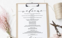005 Singular Wedding Welcome Letter Template Word Highest Clarity