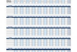 005 Singular Work Schedule Calendar Template Excel Picture