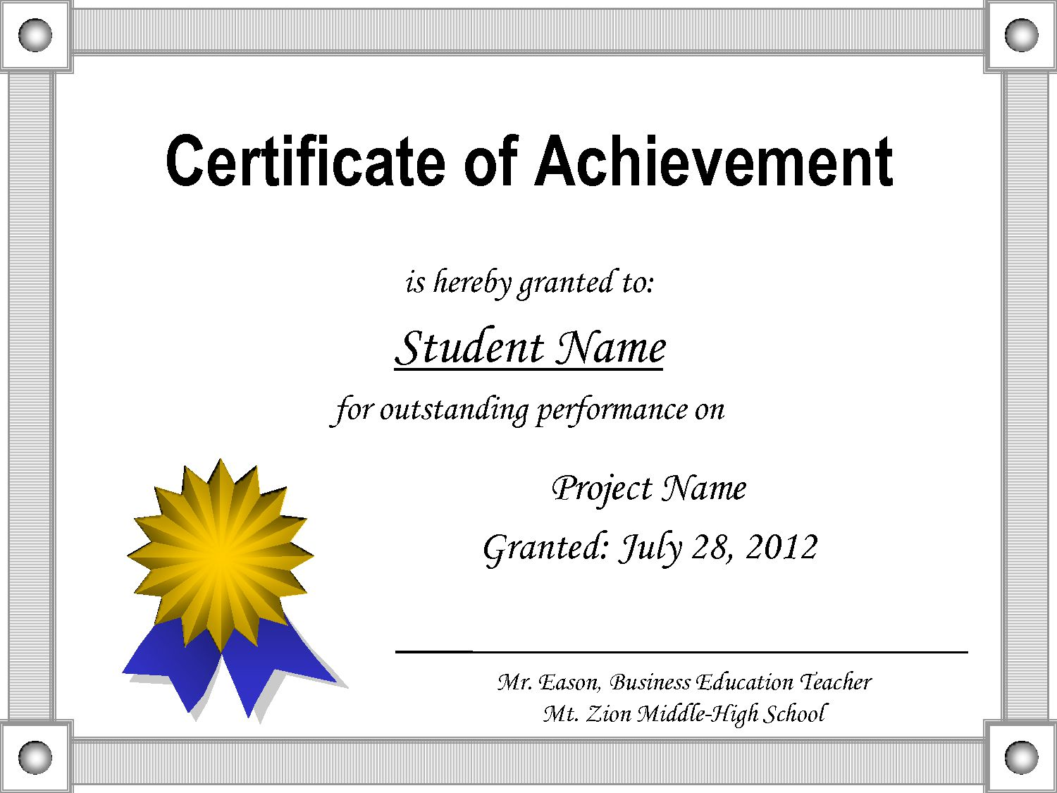 005 Staggering Award Certificate Template Word High Resolution  Doc Sample Wording ScholarshipFull