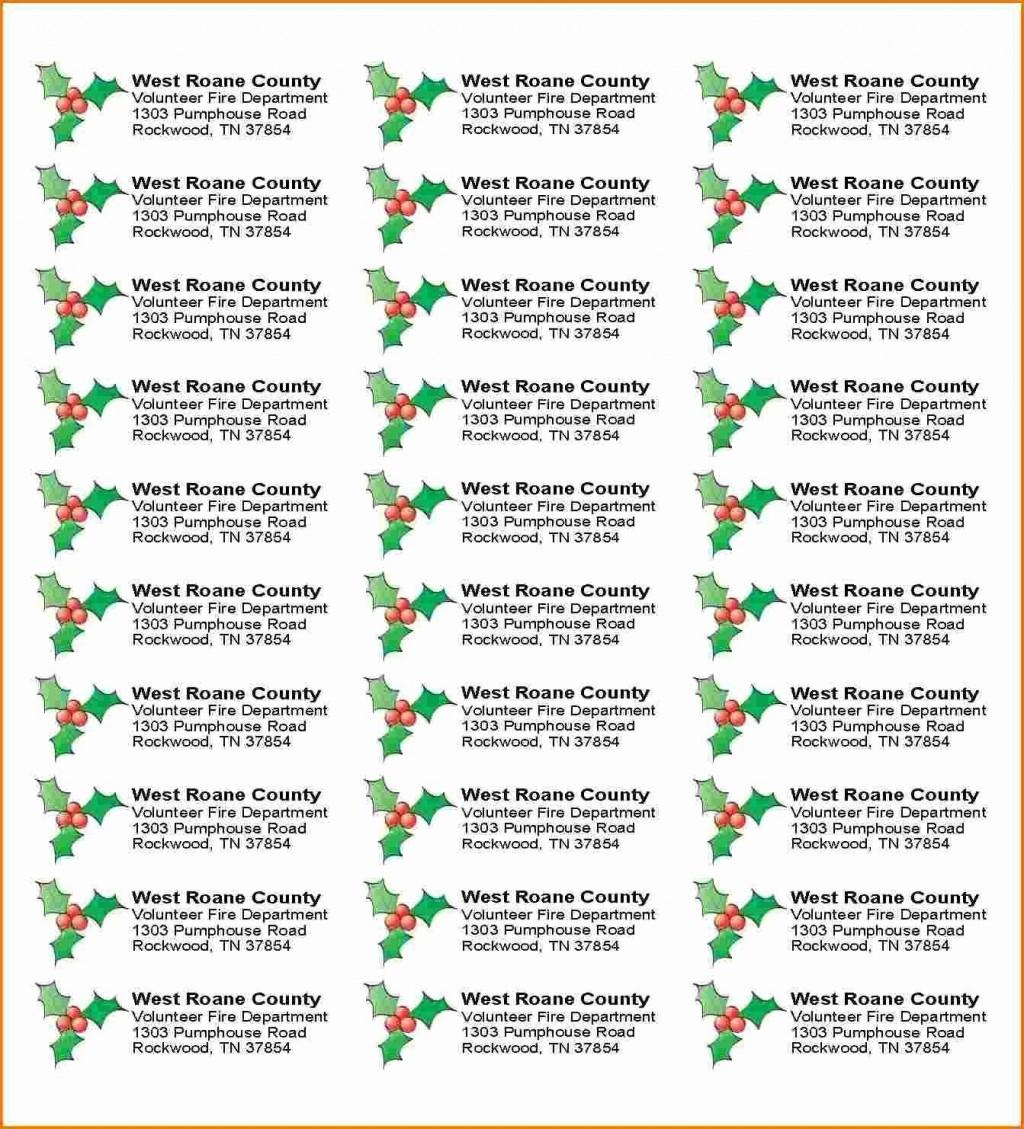 005 Staggering Free Addres Label Template Christma Photo  Christmas Return 30 Per Sheet Microsoft WordLarge