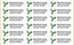 005 Staggering Free Addres Label Template Christma Photo  Christmas Return 30 Per Sheet Microsoft Word