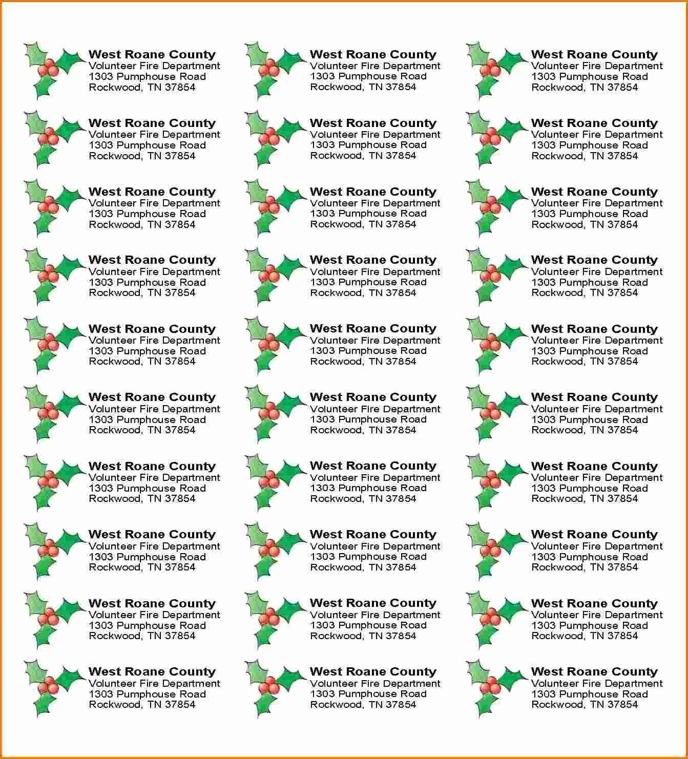 005 Staggering Free Addres Label Template Christma Photo  Christmas Return 30 Per Sheet Microsoft WordFull